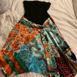 Cache silk maxi dress